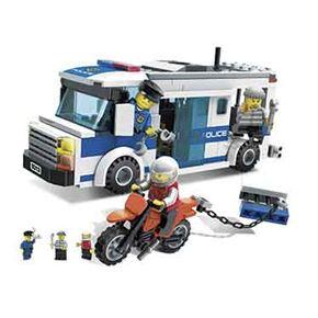 Furgón y moto policía