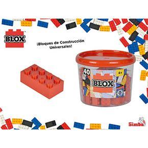 Blox- bote 40 bloques rojo - 33318875