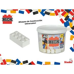 Blox- bote 40 bloques blanco - 33318890