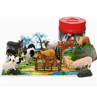 Cubo animales granja 22 piezas - 95902621