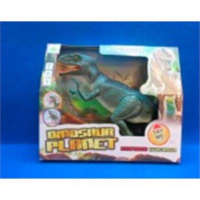 Dinosaurio caminador con luz y sonido - 87858329