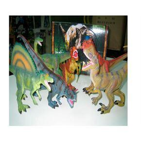 Dinosaurio con peana