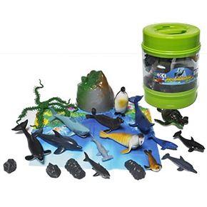 Cubo animales marinos 20 piezas