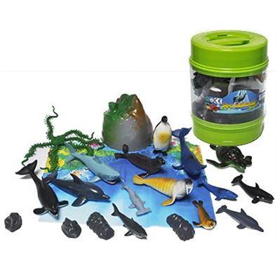 Cubo animales marinos - 95908231