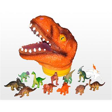 Cabeza de t-rex con 12 piezas - 95902942