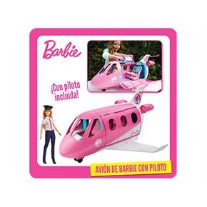 Avión barbie con piloto - 24580744