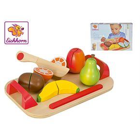 Eichhorn tabla madera frutas 12 pz