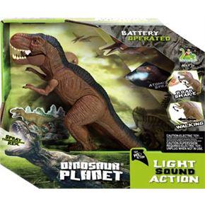 Dinosaurio caminador 30cm con luz