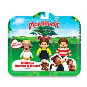 Monchhichi pack 3 figuras